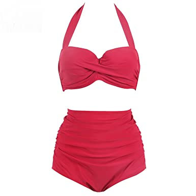 Amazon com: Kateirmaso Plus Size Swimwear High Waist