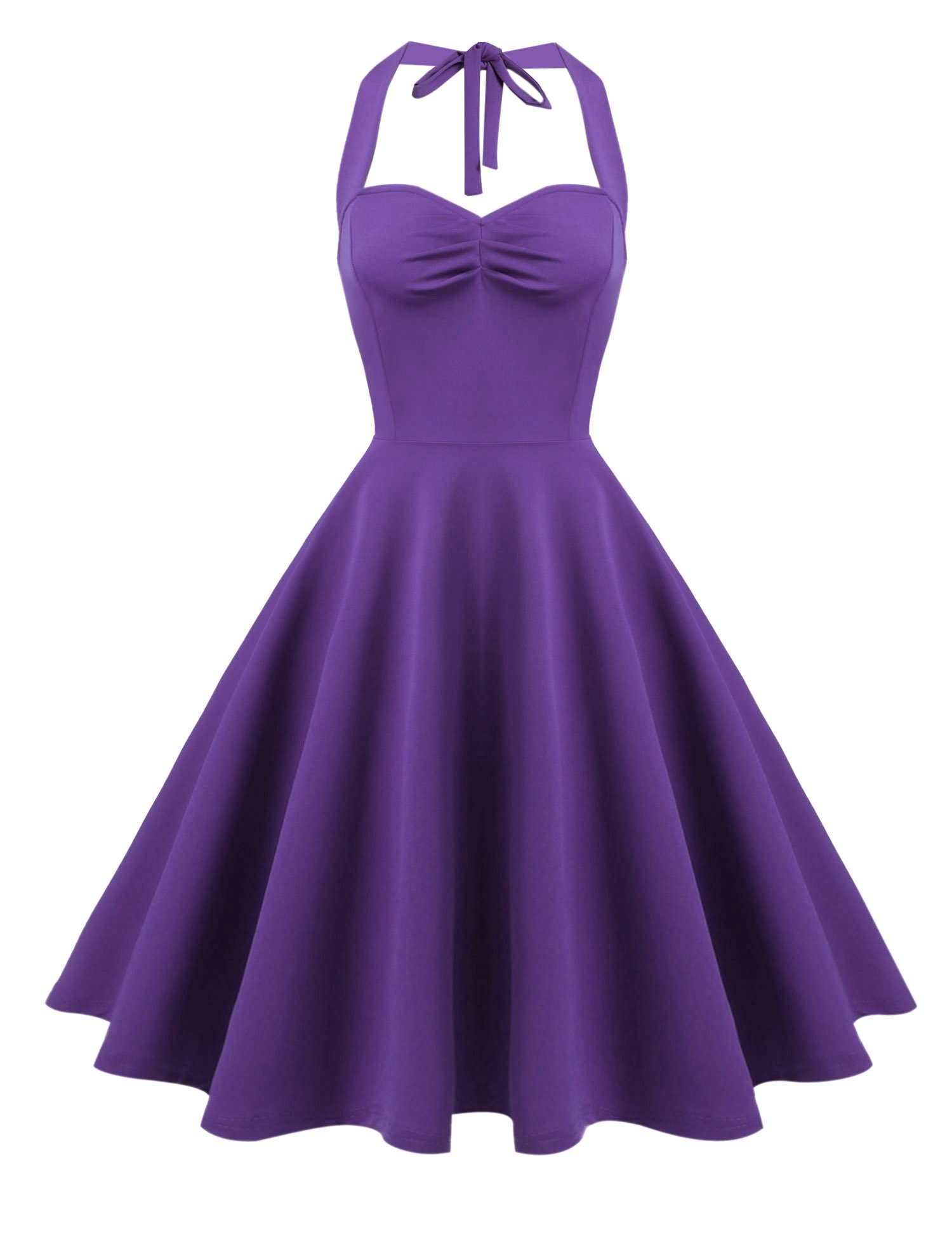 Hotouch Women Summer Style Gown Party Cocktail Dress(Purple XL)
