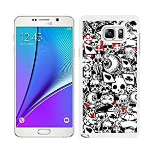 Funda carcasa para Samsung Galaxy Note 5 diseño sticker bomb, bomba de pegatinas modelo 2 borde blanco