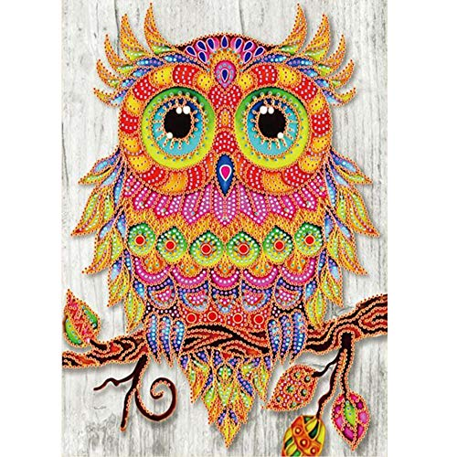 Christmas Best Gift!!Kacowpper Special Shaped Diamond Painting DIY 5D Partial Drill Cross Stitch Kits Crystal R -