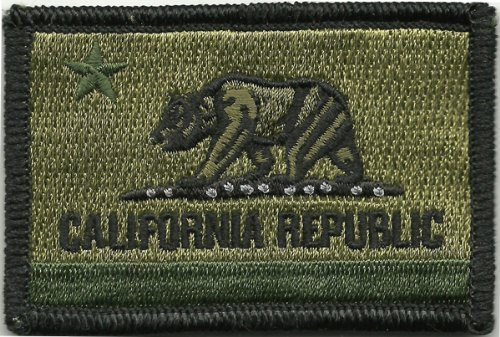 - Celidon Patch Tactical California Republic State Patch Velcro - Choose Color (Olive)