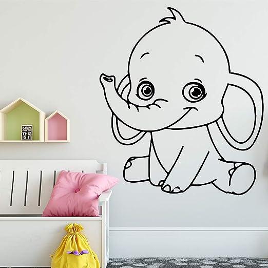 TYLPK Etiqueta engomada de la pared del vinilo del elefante ...