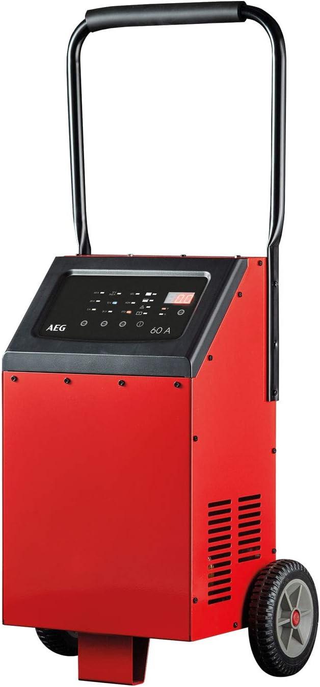AEG Automotive 10091Microprocesador Cargador de LT (12/24V, 9peldaños, 60amperios, Temperatura teledirigido, Arranque, Power Supply)