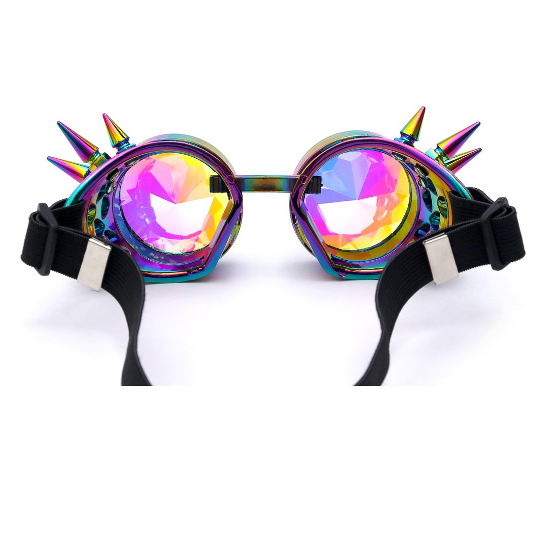 FIRSTLIKE Festivals Kaleidoscope Rainbow Glasses Prism Sunglasses Goggles by FIRSTLIKE (Image #5)