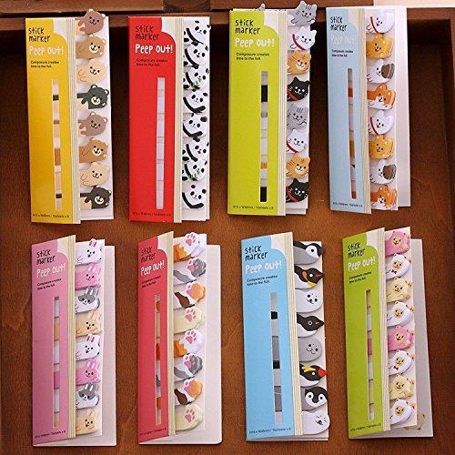 Fascolacute kawaii diy memo pad sticky Notepaper note cartoon animal bear dog pig cat penguin sticker office school supplies ,Pack of