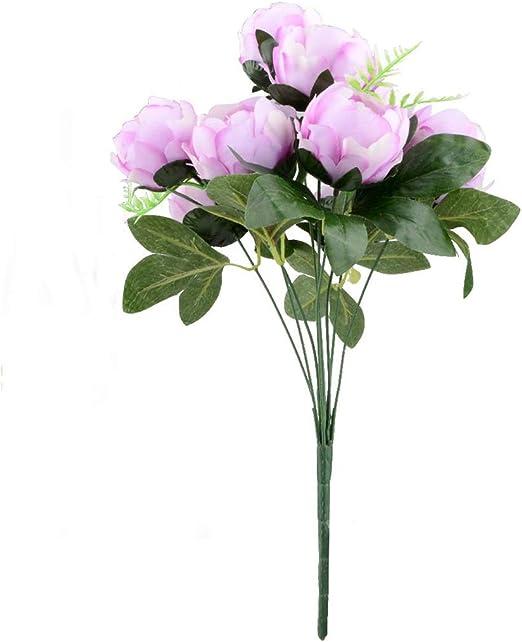 Artificial Silk Flower Peony Pink Wedding Bouquet Home Decor Indoor Scene New