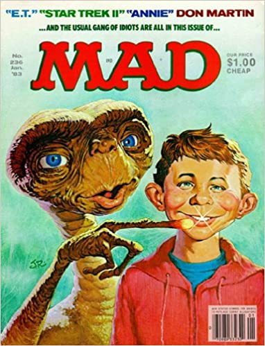 Mad Magazine cover with Alfred E. Neuman and E.T. the Extraterrestrial