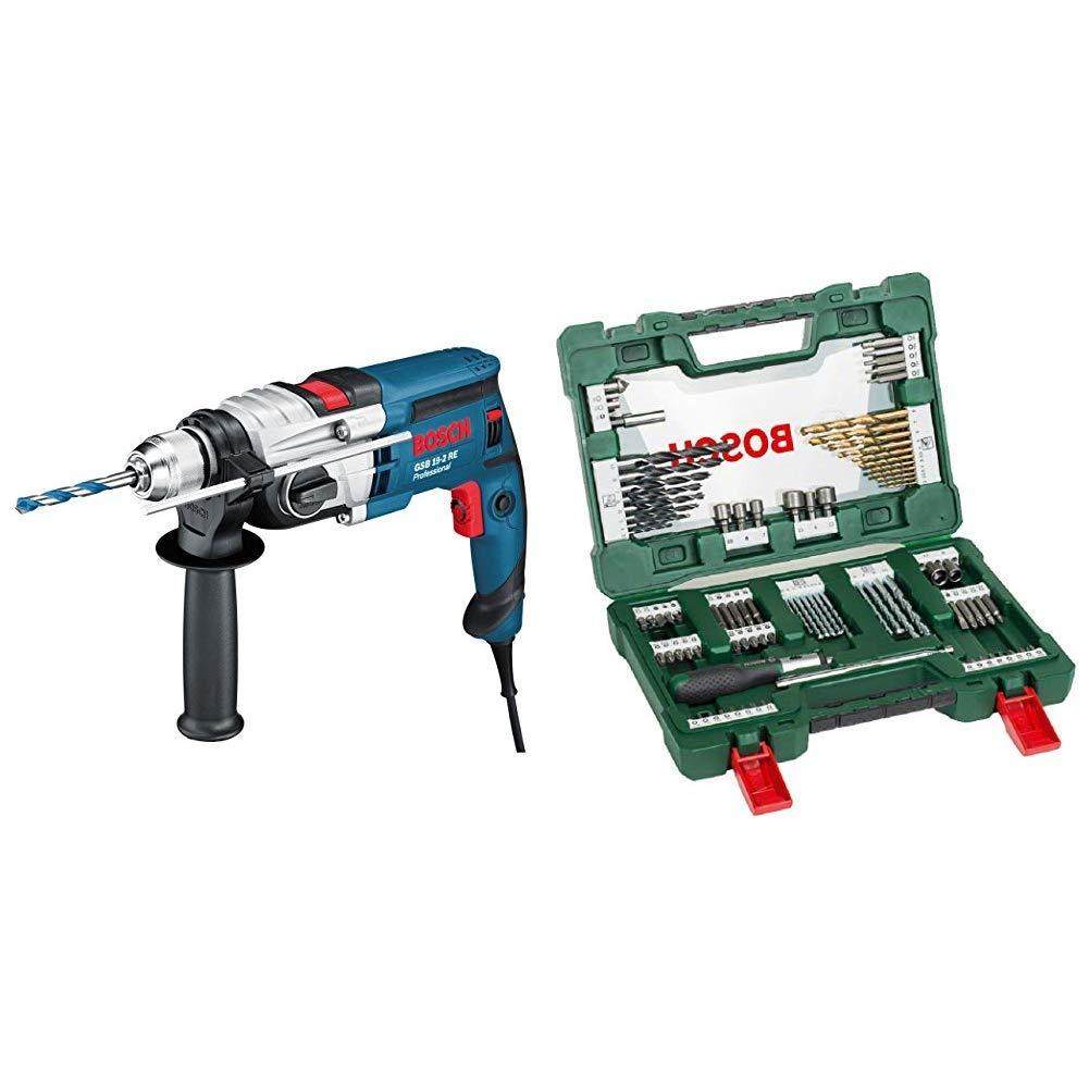 Bosch Professional GSB 19-2 RE 2 velocidades Bosch Home and Garden 2 607 010 543 Bosch Professional-Juego de 7 Brocas Multiuso Taladro de percusi/ón 230 V