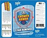 Hard Water Stain Remover - Shower Armor Commercial Grade Micro-Abrasive Cleaner Eliminates Water Spots on Shower Doors, Windows, Toilets, Sinks, Windshields, Bathtubs, Metals and More (20oz)