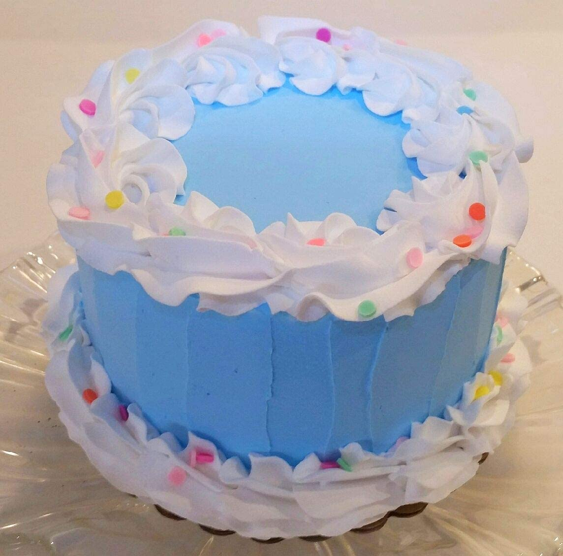 Sensational Amazon Com Dezicakes Fake Cake 6 Blue Birthday Cake Faux Cake Funny Birthday Cards Online Sheoxdamsfinfo