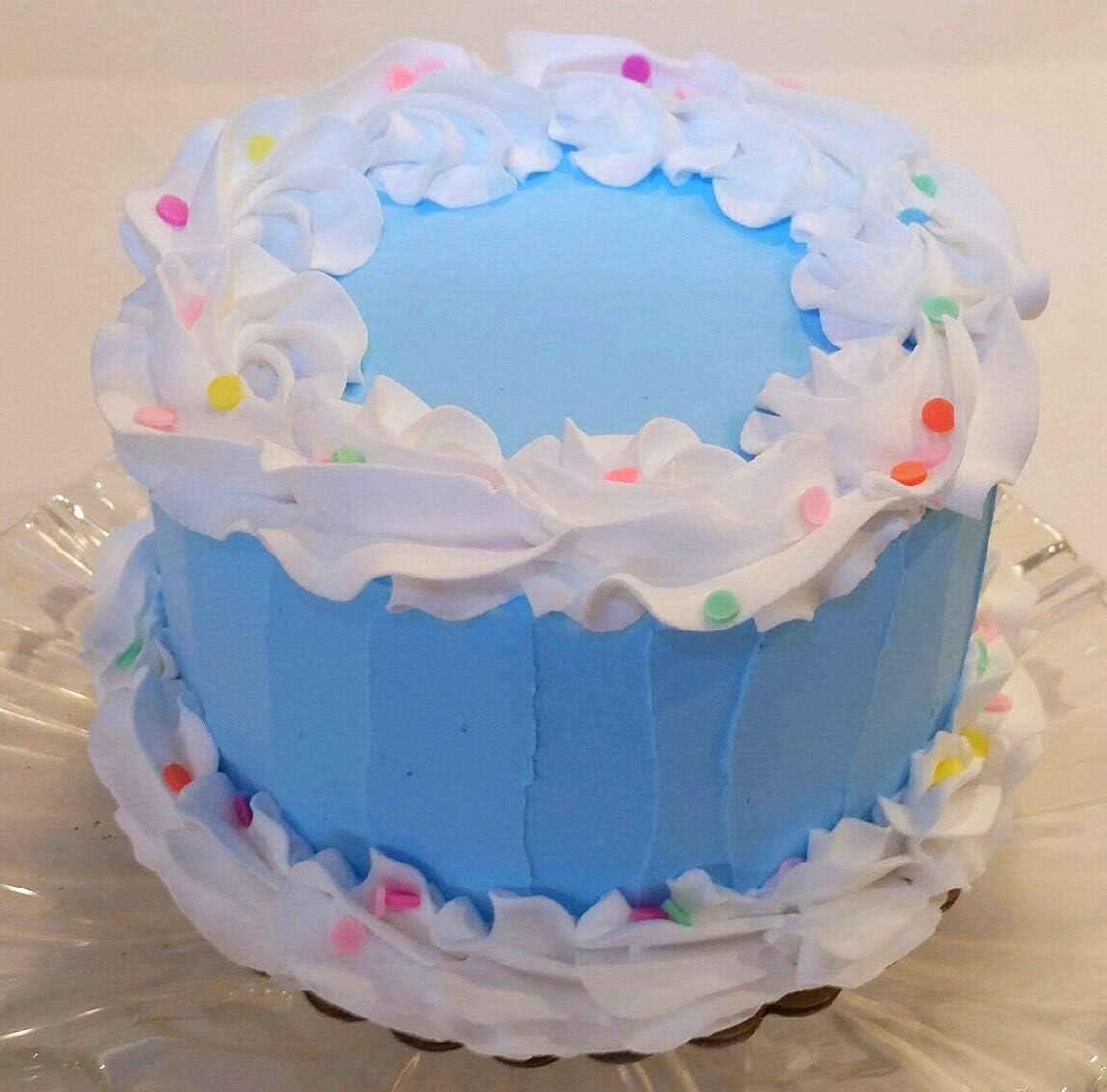 Prime Amazon Com Dezicakes Fake Cake 6 Blue Birthday Cake Faux Cake Personalised Birthday Cards Veneteletsinfo
