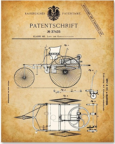 4 Unframed Patent Print - Great Gift for Car Lovers (Collectible Sign)