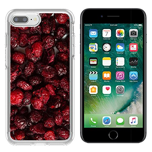 Luxlady Apple iPhone 7/8 Clear case Soft TPU Rubber Silicone Bumper Snap Cases iPhone7/8 IMAGE ID 25842366 Healthy food organic nutrition Dried cranberries cranberry fruit as ()