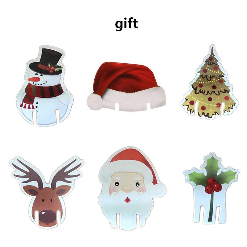 8PCS YYage Santa Suit Christmas Silverware Holder Pockets Red Christmas Tree Decorations