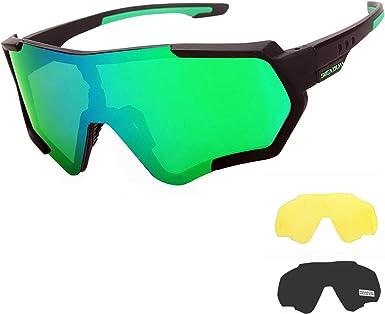 Baseball,Fishing GIEADUN Sports Sunglasses Protection Cycling Glasses Polarized UV400 for Cycling Ski Running,Golf