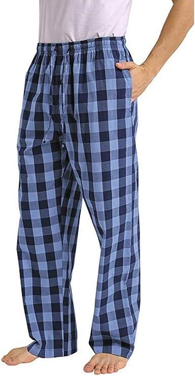 Pantalones De Pijama A Cuadros Sueltos Casuales De Moda Para Hombre Comodo Casual Pantalon Largo Pantalones Rectos Otono E Invierno Pantalones Caseros Estampados Amazon Es Ropa Y Accesorios
