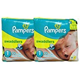 Amazon Price History for:Pampers Swaddlers Diapers, Size 1, 20 Count Pack of 2 (Total of 40 Pampers)