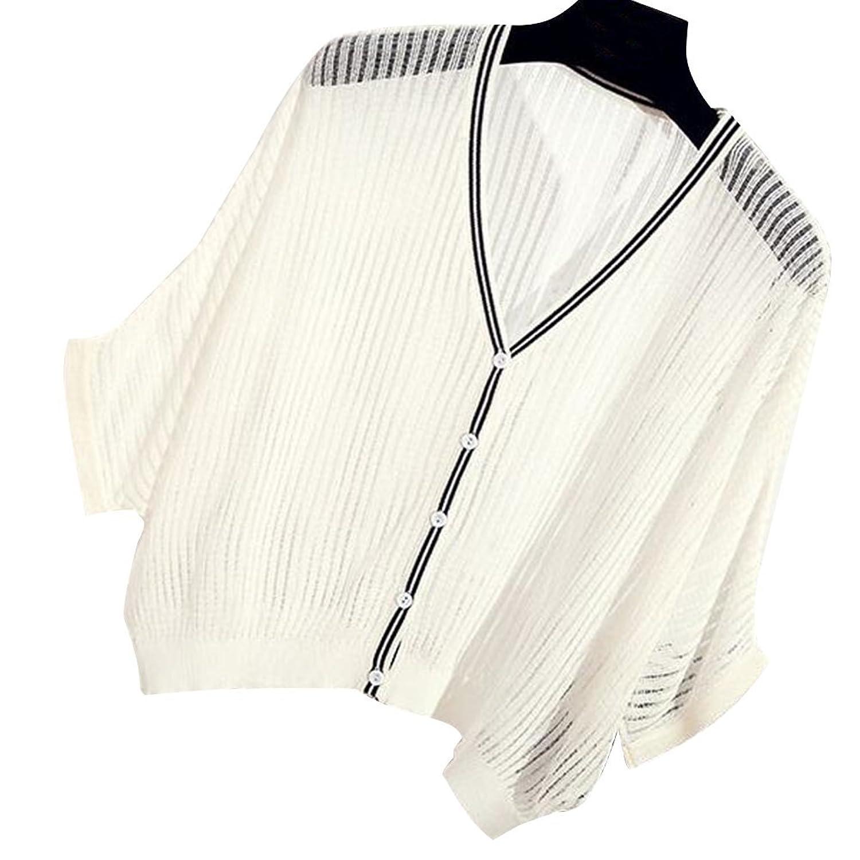 Women Summer Thin Cardigan Kimono Bolero Shrug Batwing-sleeved Knitwear