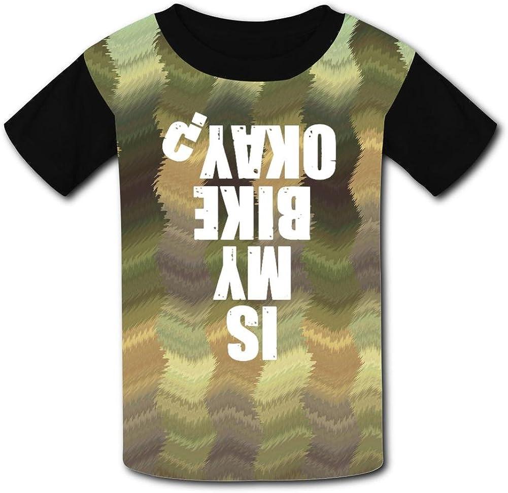 Aslgisy is My Bike Okay Casual T-Shirt Short Sleeve for Kids