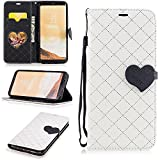 Galaxy S8 Plus Wallet Case, Jeccy 2-in-1 Love Design Lightweight Folio Flip Premium PU Protective Magnetic Closure Case with Credit Card & ID Card Slot for Galaxy S8 Plus 2017