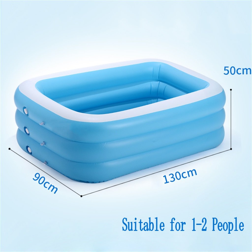 LQQGXL Bath Inflatable bathtub/pond pool The pool for children/baby/home battery is suitable for 1-2 people (130 90 50cm) Inflatable bathtub