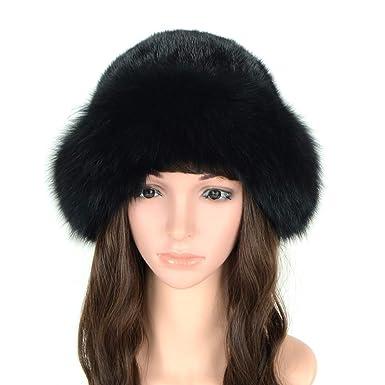 e038c398dbf MH Bailment Womens Winter Hat with Fox Brim Real Fur Hats (M