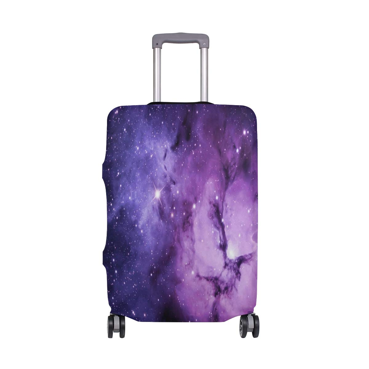 Travel Luggage Cover Outer Space Purple Protective Elastic Suitcase Protector Washable Baggage Covers 29-32IN by ZHOUSUN