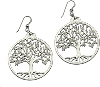 product image for Tree of Life Silver-dipped Earrings on French Hooks