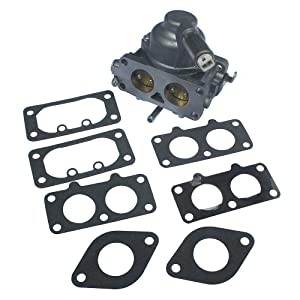 KIPA Carburetor Carb Replacement for Briggs & Stratton 791230 799230 699709 499804 V-Twin 20hp 21hp 23hp 24hp 25hp Manual Choke with Gasket