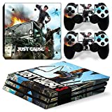 FreeSticker Action Adventure and Horror Games Exclusive PS4 Pro Designer Skin Console plus 2 Controller Decal Vinyl Protective Covers Stickers Sony PlayStation 4 PRO (Just Cause 3)