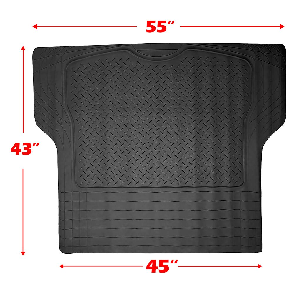 Scitoo 17-PCS Car Floor Mats W/Trunk Liner Gray/Red Car Seat Covers W/Steering Wheel Cover for Heavy Duty Vans Trucks by Scitoo (Image #7)