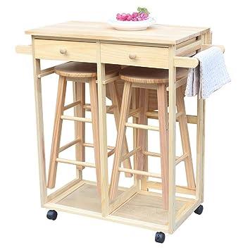 Amazon.com: Lorchwise - Carrito de cocina plegable con ...