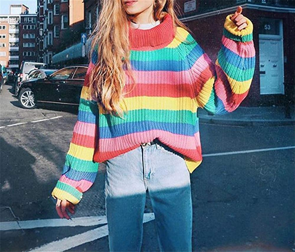 YYZHAO Stripe Turtleneck Sweater Women Pullovers Autumn Winter Warm Knit Jumpers