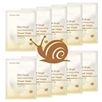 MOTHER MADE Rich Snail Deep Moisturizing Face Sheet Mask Pack of 10, with Cruelty-free...