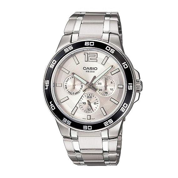 Casio MTP-1300D-7A1V - Reloj para Hombres, Correa de Acero ...
