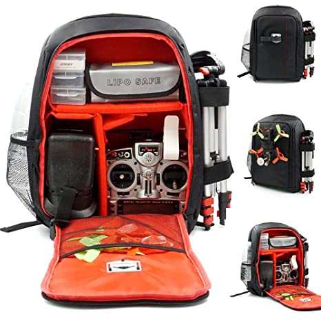 ee93c1b068 Image Unavailable. Image not available for. Color  elechawk Red FPV Racing  Drone Quadcopter Backpack Carry Bag Outdoor Portable Case for Multirotor ...