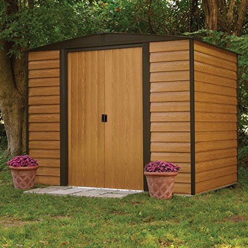 Sliverylake Outdoor Storage Shed Garden Utility Tool Back...