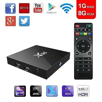 Tolina TV Box, Android 7.1 4 K Red Smart TV Caja con Rock Chip ...