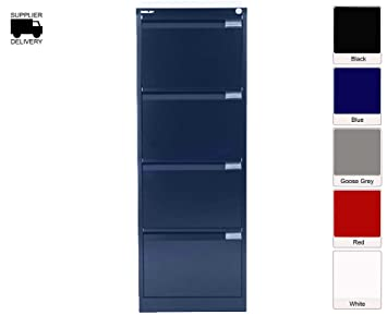 Bisley Filing Cabinet BS4E 4 Drawer H1321xW470xD622mm Steel   Color: Oxford  Blue