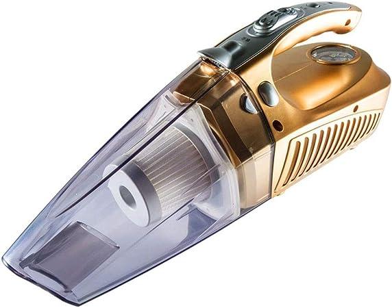 VIVIAN YANG Aspirador De Coche, Potente Aspirador Portátil Cable 4 En 1 Inflador De Neumáticos Medidor De Presión De Los Neumáticos Luz Led Aspiradora De Mano 100W,Gold: Amazon.es: Hogar
