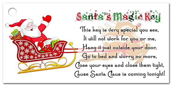 Santas magic key tags labels for funny christmas kids activity and santas magic key tags labels for funny christmas kids activity and schools 25 amazon kitchen home m4hsunfo