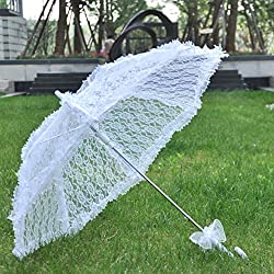 Tracfy Lace Craft Umbrella Vintage Parasol Bridal Wedding Photography Umbrella