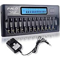 Carregador de bateria de 12 baias para baterias AA AAA Ni-MH / Ni-CD com função de atualização Carregador de bateria…