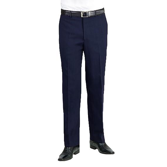 Brook Taverner - Pantalones de Traje/de Vestir Lisos Caballero Hombre Modelo Apollo