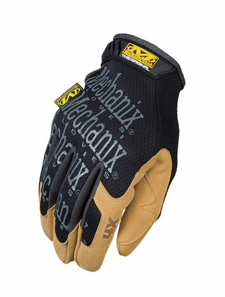 Mechanix Wear MG4X-75-009 6 Pack Material 4X Original Glove Medium, Black/Tan