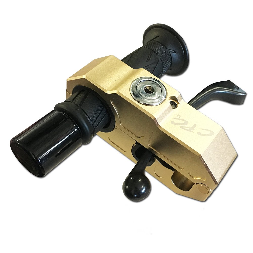Anti-Theft Grip/Handlebar Lock, 120db Alarm for Motorcycles, Cars, ATV's, UTV's, Side By Side's, Snowmobiles, Scooters, Mopeds, Bicycles and more (Gold)