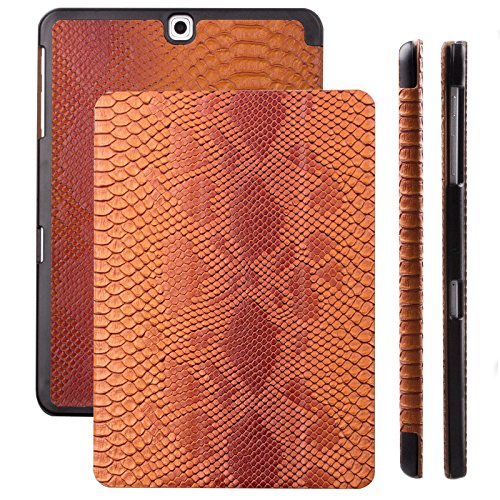 Samsung Galaxy Tab S2 9.7 Case | Cobra Snake caramel | iCues Ancho Cover with Stand | other Leather - and colour variations available | Protective Flip Wallet with gift - Gift Available Vouchers