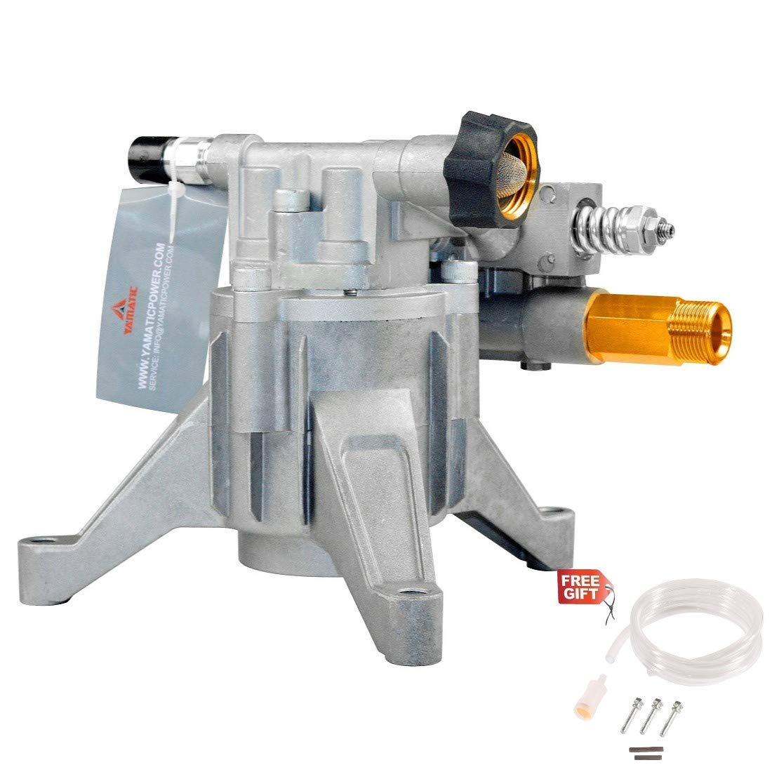 """YAMATIC Pressure Washer Replacement Pump Vertical Axial 2900 PSI 2.3 GPM fit 7/8"""" Vertical Shaft Honda Briggs Kohler Engine fit Most Ryobi, Craftsman, Simpson, Excell, Troy-Bilt, AR, Ironton Washer"""