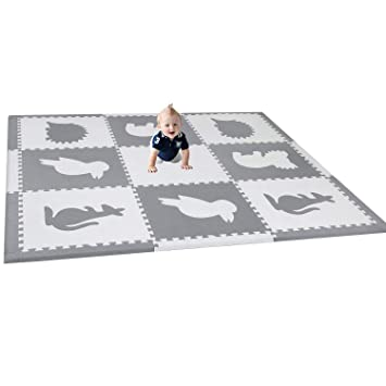 Amazon Com Han Mm Baby Play Mat With Fence Interlocking Foam Floor