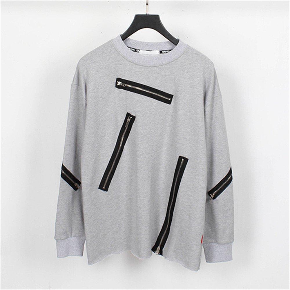 Lisux mach alle treffer Trend dunkle Kapuzenpullis männer Casual Mode - Pullover,Grau,XXL